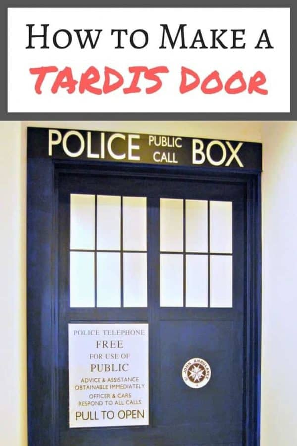 How to make a TARDIS door. Perfect for a Doctor Who fan!  sc 1 st  The Handyman\u0027s Daughter : make door - pezcame.com