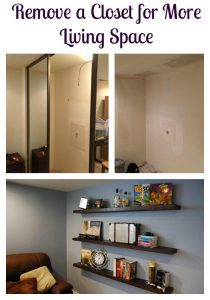 Remove a Closet for More Living Space - The Handyman's Daughter