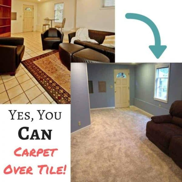 Yes, You Can Carpet over Tile Floor! - The Handyman\'s Daughter
