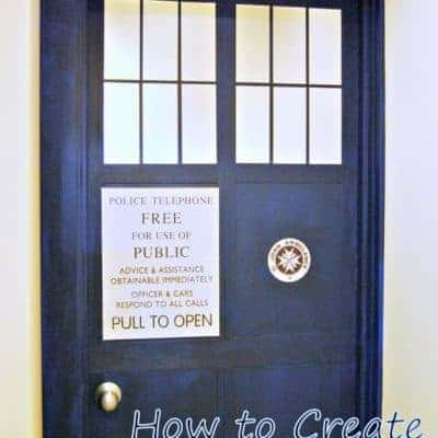 Follow these simple steps to turn a plain hollow core door into the entrance to the TARDIS! This is the perfect DIY project for any Doctor Who fan. Via The Handyman's Daughter