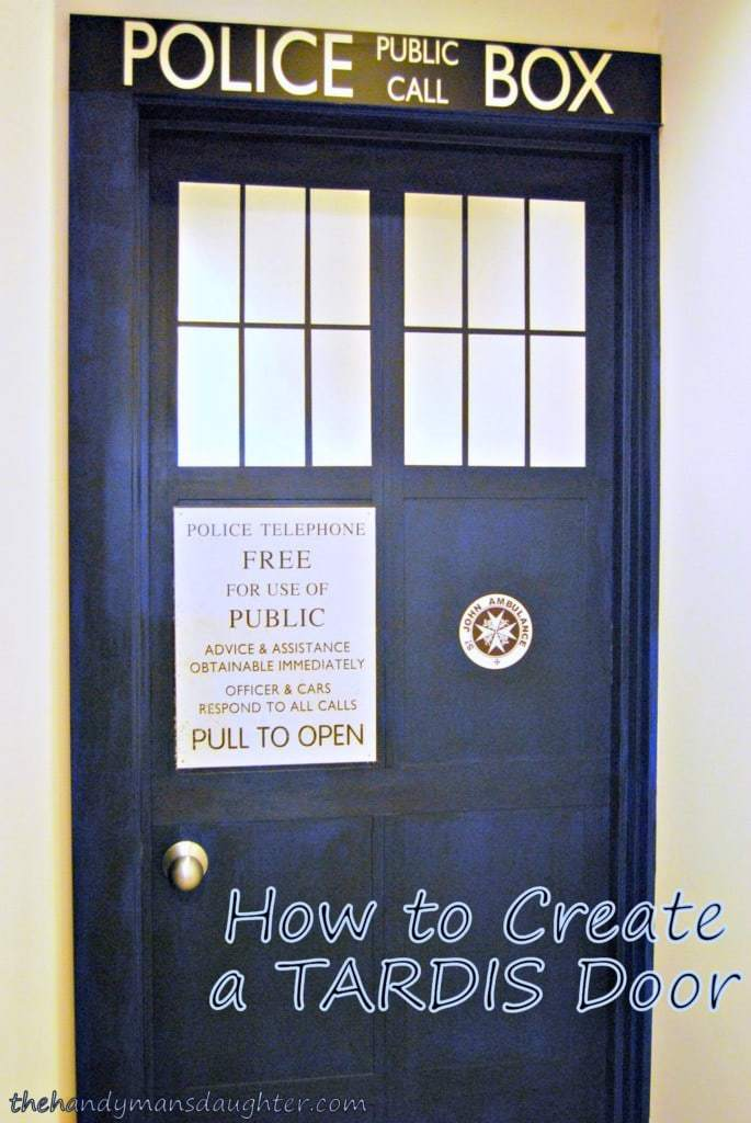 & How to Make a TARDIS door - The Handymanu0027s Daughter