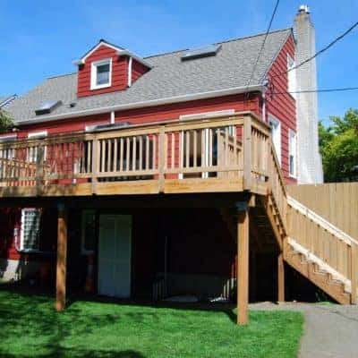 Our new deck is twice the size, but requires twice the amount of yearly deck repair and maintenance!
