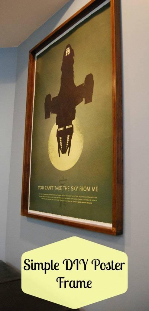 Simple DIY Poster Frame - The Handyman's Daughter