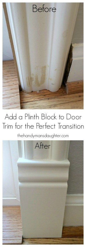 Add Plinth Blocks To Door Trim For A Finished Look The