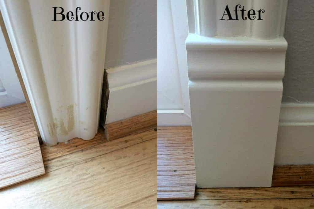 Stumped on how to transition between baseboards and door trim? Try a plinth block for a clean corner.