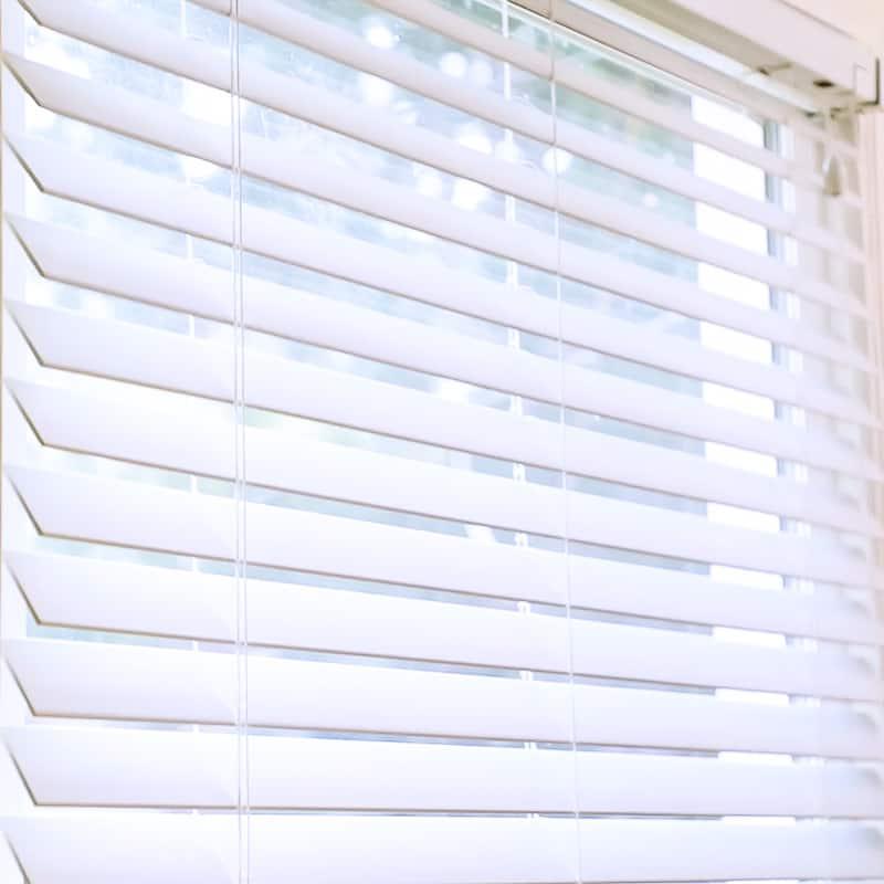 freshly painted window blinds