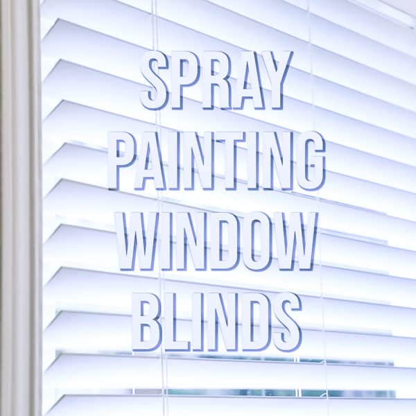 spray painting blinds
