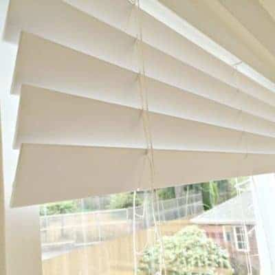 Brighten up sundamaged blinds with spray paint