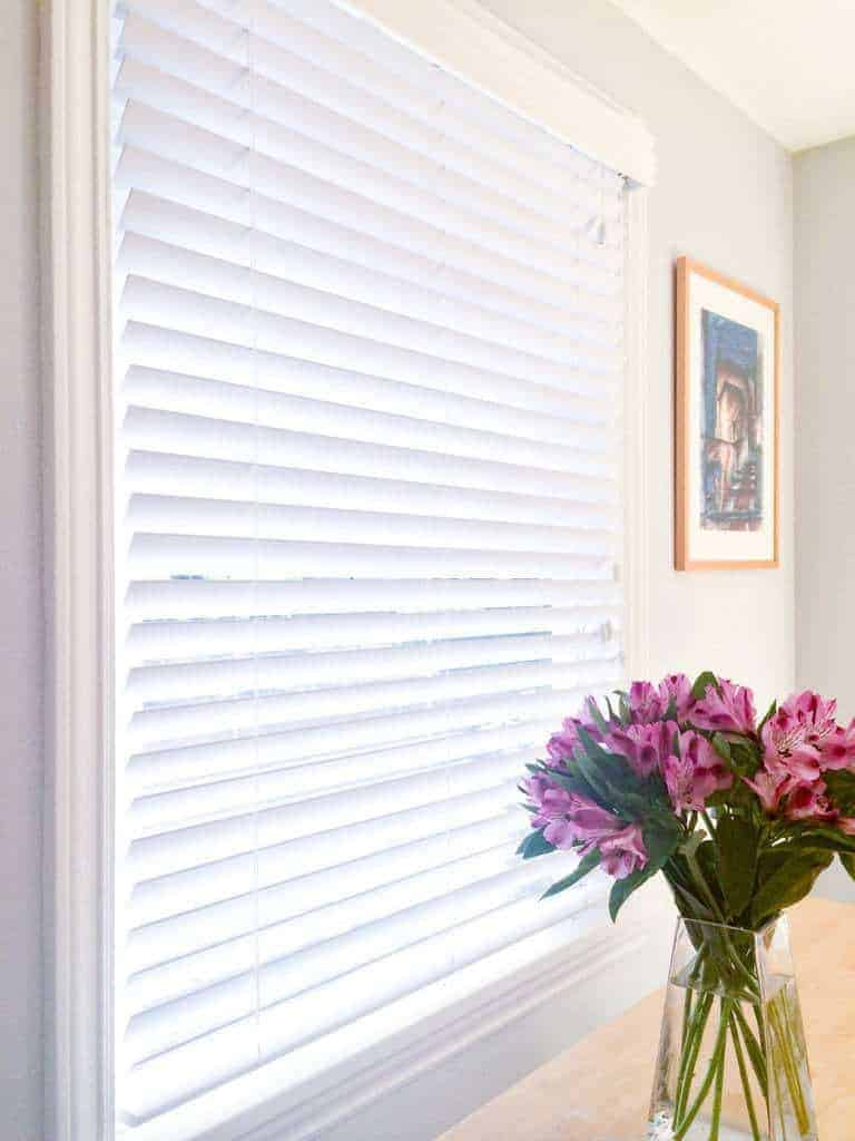 Did you know you can spray paint vinyl window blinds? Get rid of the yellow sun-damage and make them look new again!