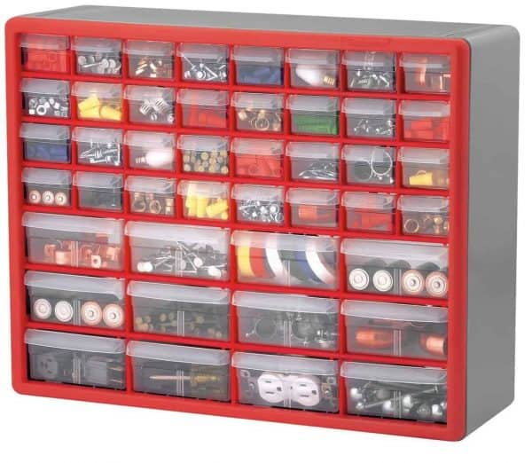 This wall-mount drawer bin container is the perfect Lego storage solution!