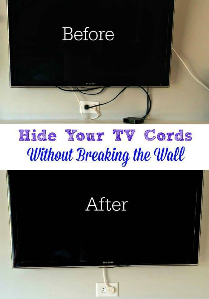 Tackling Another Eyesore Hide The Tv Cords The Handyman