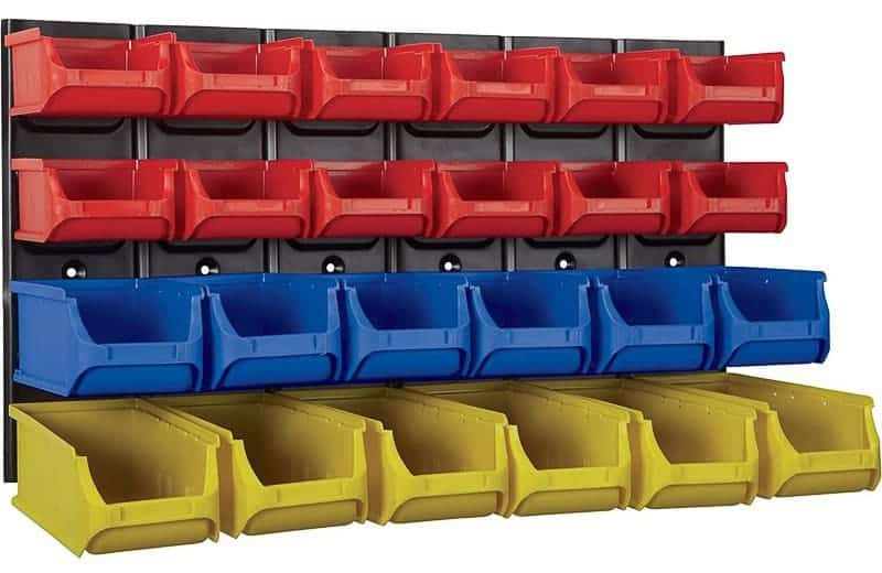 This wall mounted parts rack would be perfect for Lego storage!