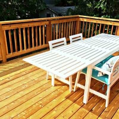 final view of deck stained with TWP
