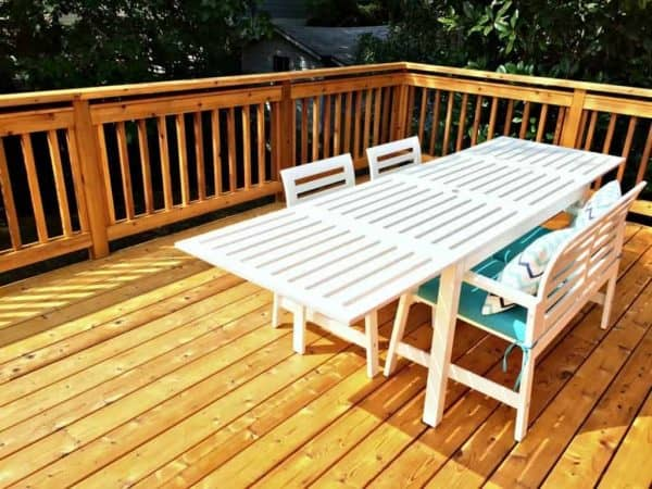 view of deck stained with TWP