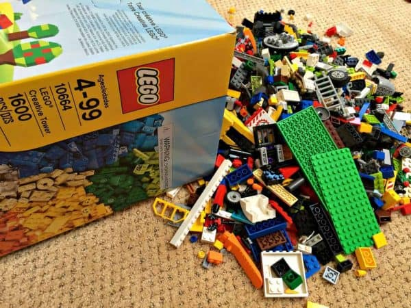 Don't let this Lego disaster happen to you! Get them organized with one of these Lego storage solutions!