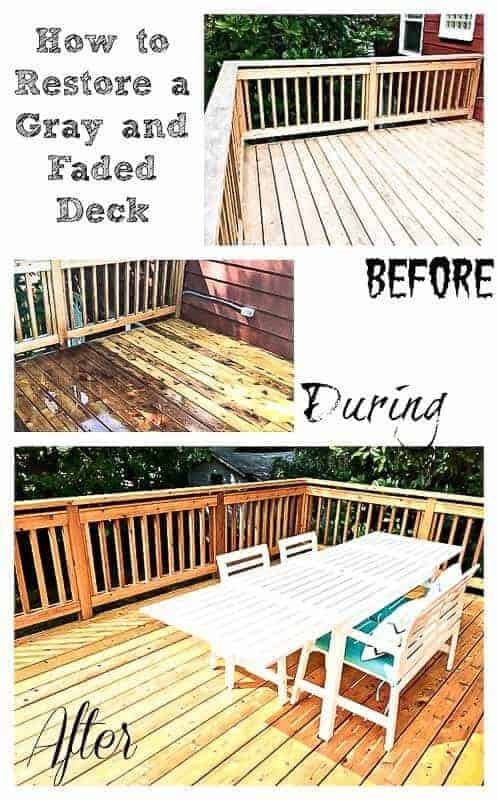 Waiting to stain a new deck is hard, but with proper prep, you can make it look amazing! | wood stain | deck cleaning | new deck cleaning | new deck weathering | new deck season