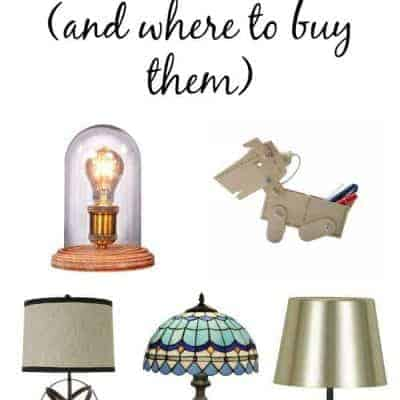 5 Table Lamps I Love (and where to buy them)