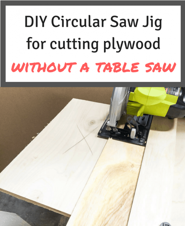 This circular saw jig will help you cut plywood straight, without a table saw!   woodworking   woodworking jigs   circular saw tips