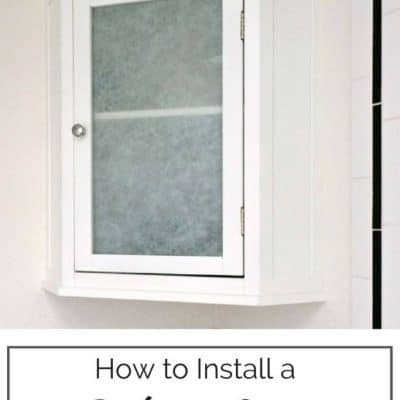 Have an unused corner of your bathroom? Add a ton of storage with a corner cabinet! This handy tutorial shows you how to install one so that it looks built in. - The Handyman's Daughter