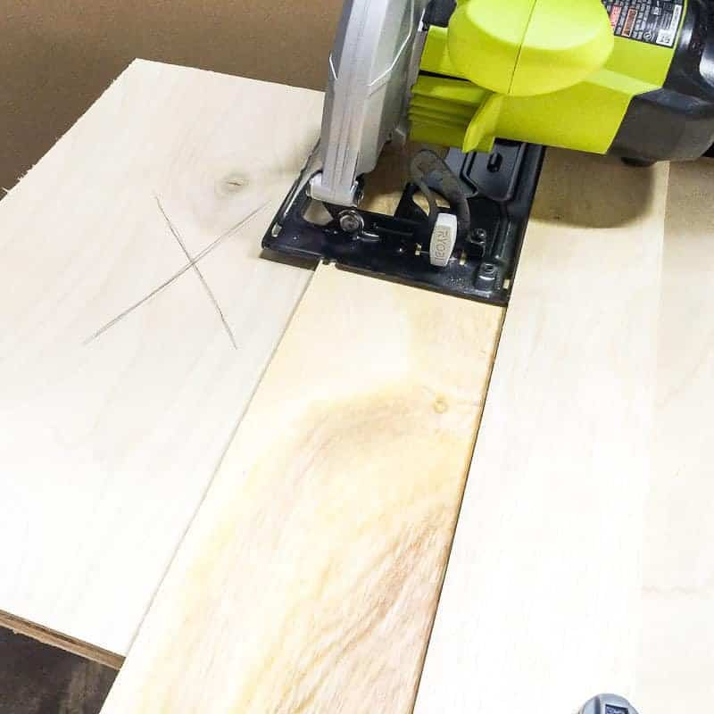 Use a circular saw jig to make accurate cuts in plywood without a table saw.