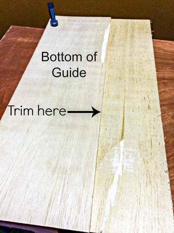 Trim off the excess from your circular saw jig.