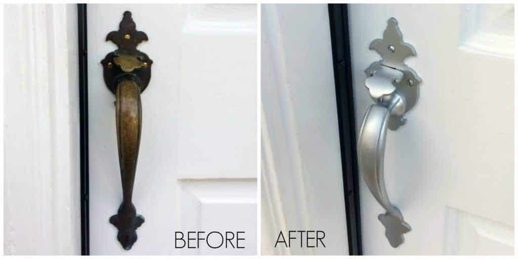 What a Difference Spray Paint Can Make! Door Handle Before and After - The Handyman's Daughter