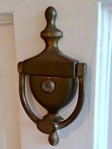 door knocker before spray painting