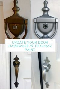 Don't spend a ton of money updating your door hardware! With a few coats of spray paint, you can make it look like new!
