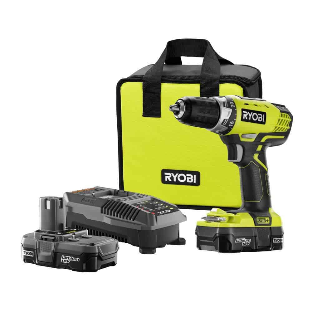cordless drill and battery