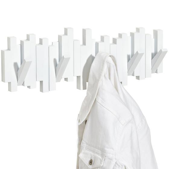 This Umbra coat hook rack makes a statement even when it's not in use! - thehandymansdaughter.com