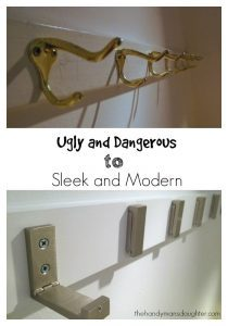 Take your hallway coat hook rack from ugly and dangerous to sleek and modern! - The Handyman's Daughter