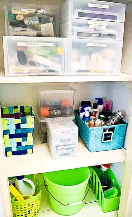 All these Daiso products keep our linen closet organized!