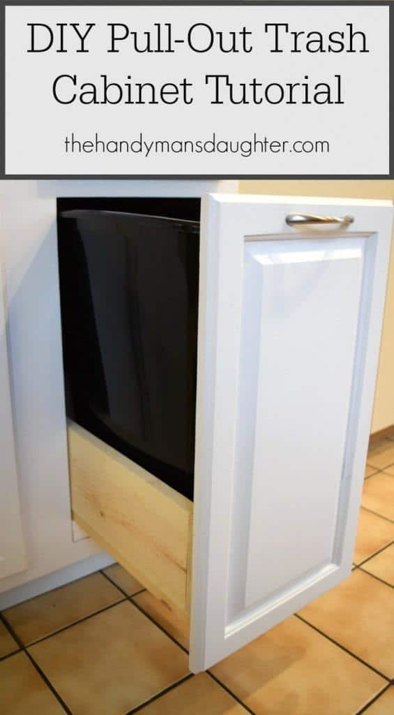 Convert Any Kitchen Cabinet Into A Pull Out Trash Can Cabinet! | Pull Out  Trash