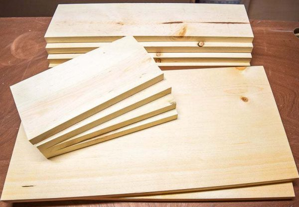 Cut pieces for trash can cabinet drawer