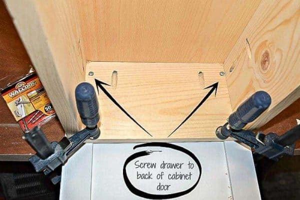 Attach Door To Trash Can Cabinet Drawer