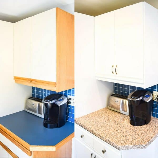 80s kitchen cabinets before and after painting