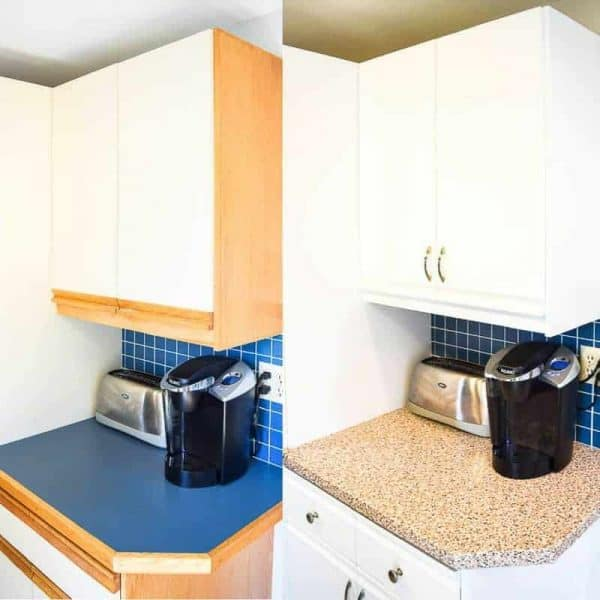 Those Ugly 80s Kitchen Cabinets Can Be Updated With Just Paint And New  Hardware! Get