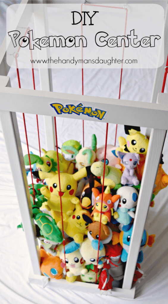 Do you have a Pokemon master at your house? Or maybe your living room feels like a zoo with all those stuffed animals lying around? This handy tutorial is for you! - The Handyman's Daughter