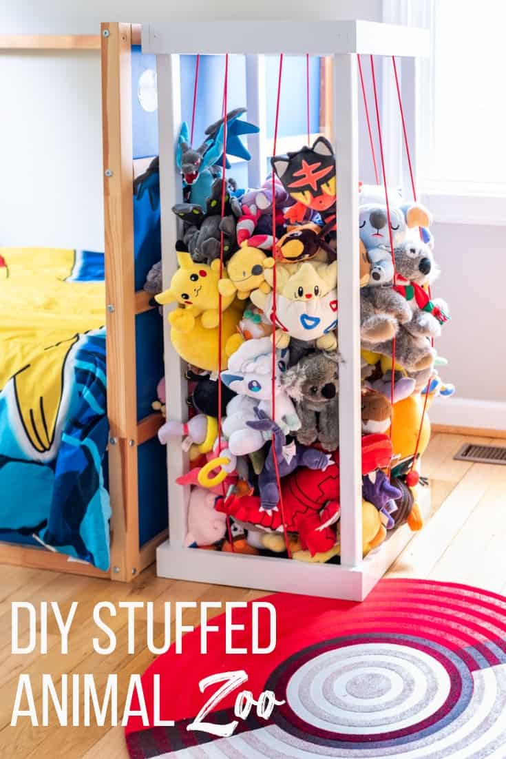 DIY Stuffed Animal Zoo with plans