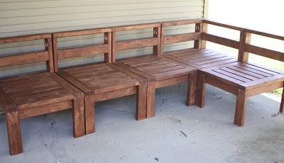DIY Outdoor Sectional Sofa