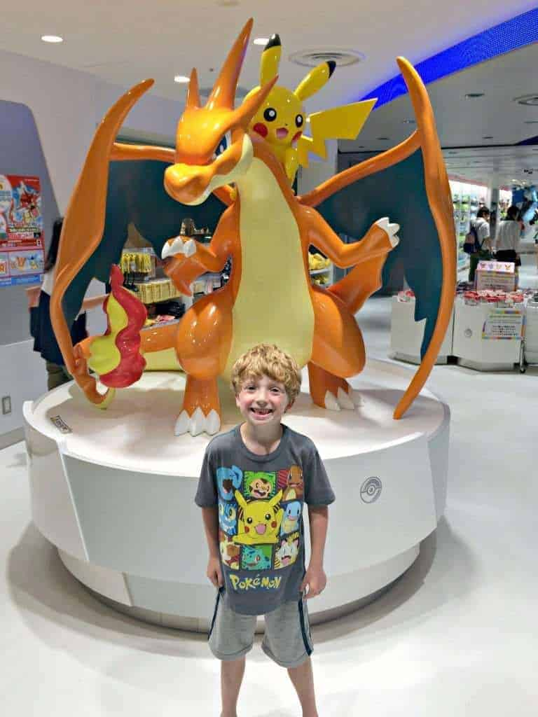 Our son was thrilled to go to the Pokemon Center in Tokyo. So many Pokemon toys! - The Handyman's Daughter