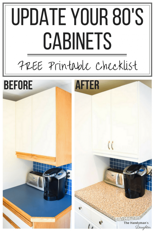 Tips for Updating Melamine Cabinets with Oak Trim - The Handyman's ...