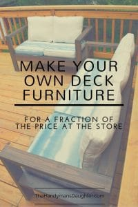 Make Your Own Outdoor Sofa and Loveseat {for a fraction of the price at the store}