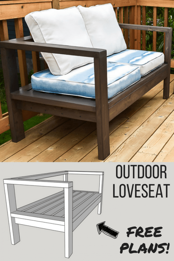 diy outdoor furniture couch pinterest diy outdoor loveseat with 3d model of woodworking plans outdoor loveseat and sofa the handymans daughter