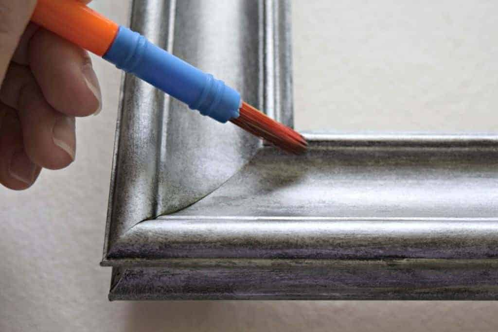 Tutorial Faux Aged Silver Picture Frame The Handyman S Daughter