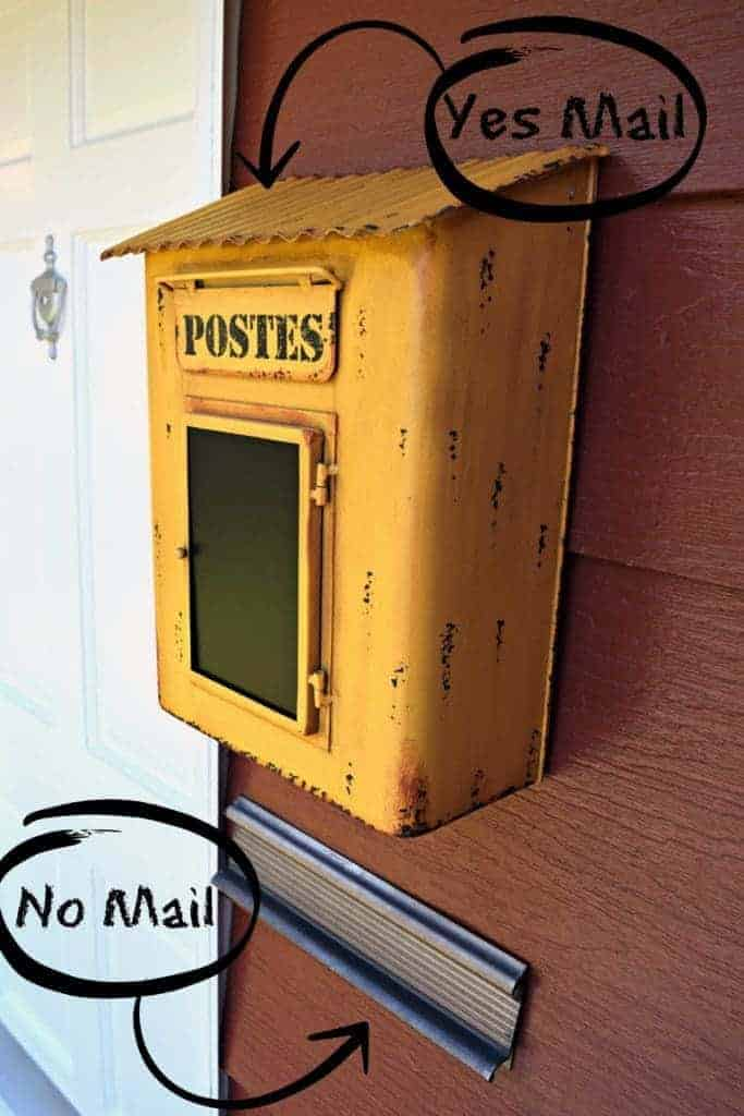 Hopefully the substitute mailman will now realize that mail doesn't go in the mail slot anymore! - thehandymansdaughter.com