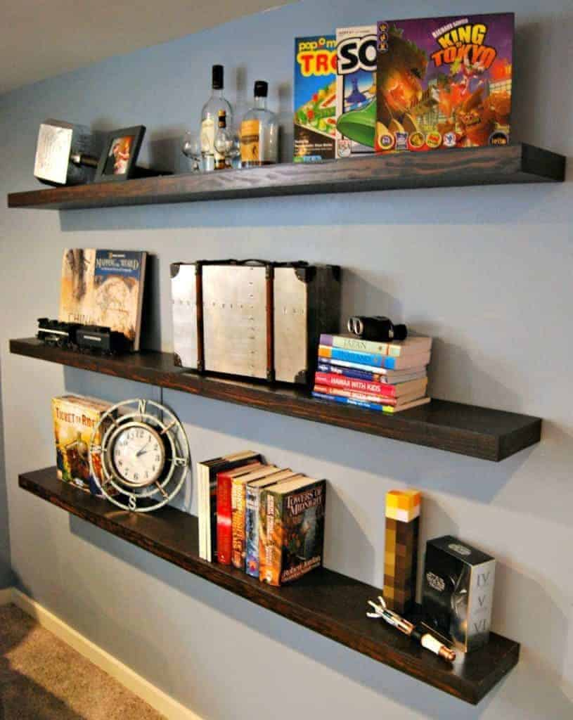 Our floating shelves have a few silver metallic items on display, and I wanted to bring that accent color to the other side of the room - thehandymansdaughter.com