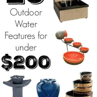 Think a fancy waterfall or fountain is out of your budget? Think again! These 20 beautiful water features are all under $200! - www.thehandymansdaughter.com