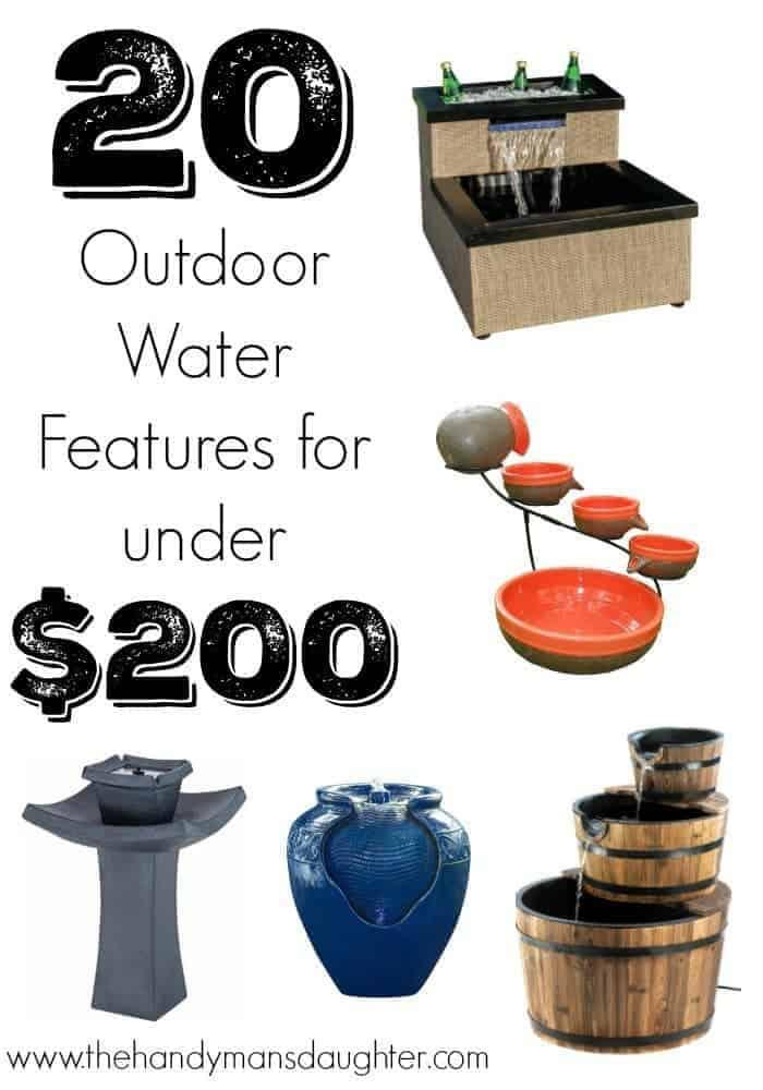 20 Outdoor Water Features Under $200