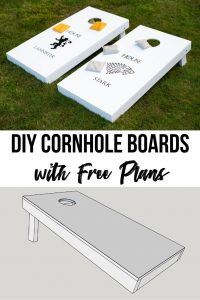DIY cornhole boards with free plans